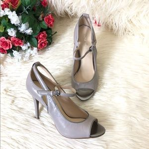 "Nine West ""Derby"" Peep Toe Pump Heels 